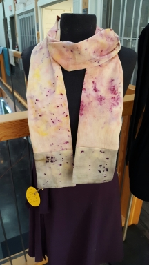 Naturally Dyed Cotton Skinny Scarf